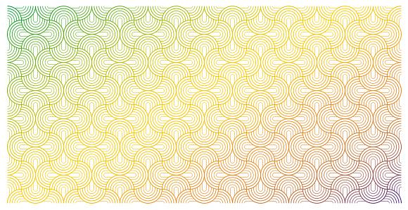 Vector seamless semi-circle pattern background