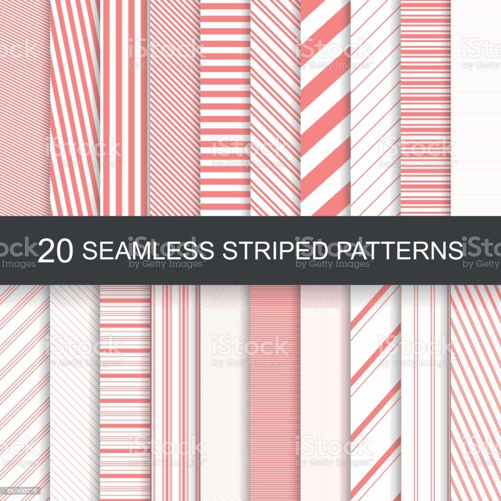 Vector seamless striped patterns vector art illustration