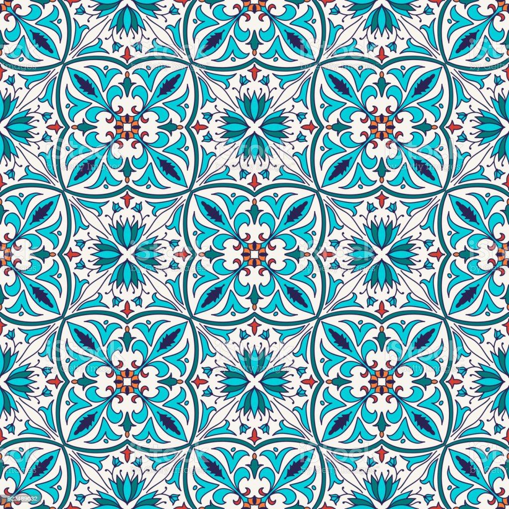Vektor nahtlose Textur. Schöne farbige Muster für Design und Mode mit dekorativen Elementen – Vektorgrafik