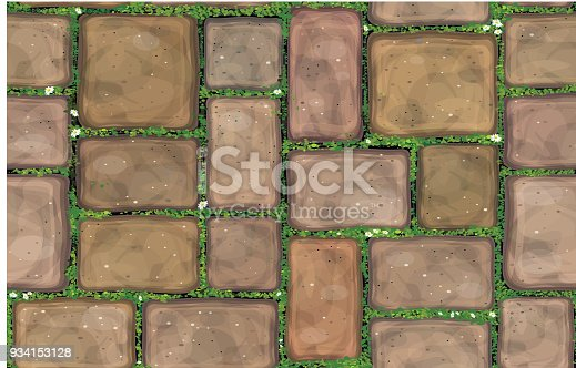 Vector seamless texture brown stones  pavement.