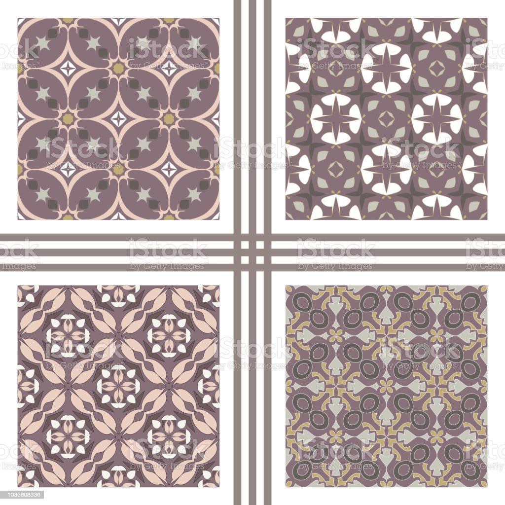 Vector Seamless Texture Collection Set Of Beautiful Colored Patterns For Design And Fashion With Decorative Elements Stock Illustration Download Image Now Istock