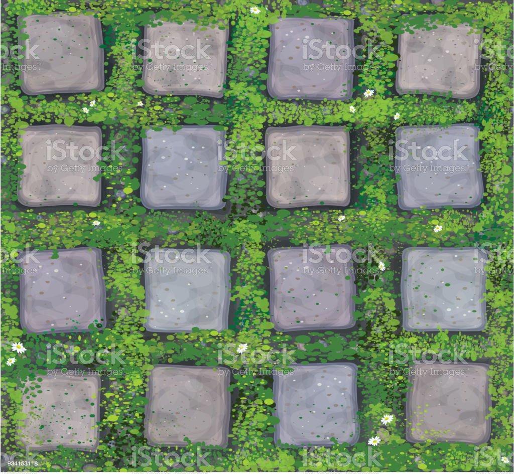 Textura sem costura vector cinza pedras de calçada. - ilustração de arte em vetor