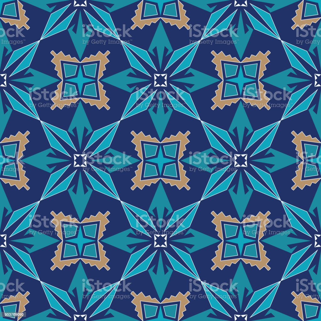 Vector Seamless Texture Ornament For Ceramic Tile Portuguese ...