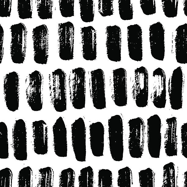 Vector seamless trendy modern brush strokes pattern. Vector seamless trendy modern brush strokes pattern. Monochrome messy ink illustration.  Hand drawn artistic pattern. Great for web, print, wrapping paper, wallpaper, invitation card fabric swatch stock illustrations