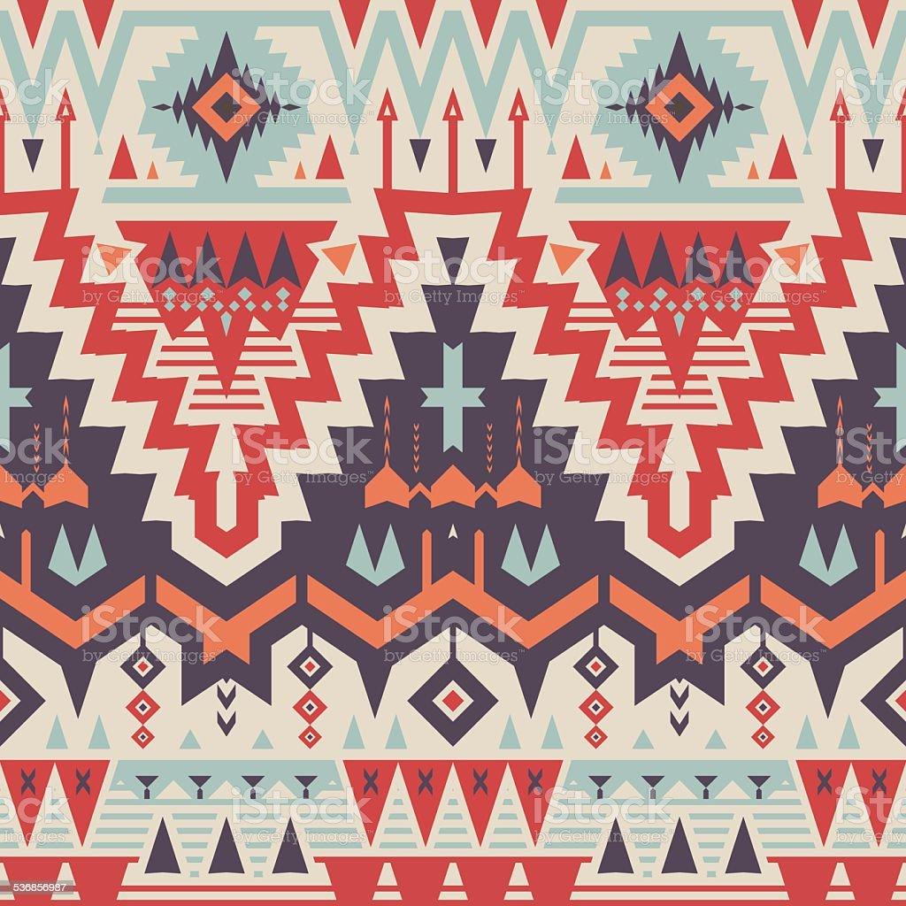 Vector Seamless Tribal Pattern vector art illustration