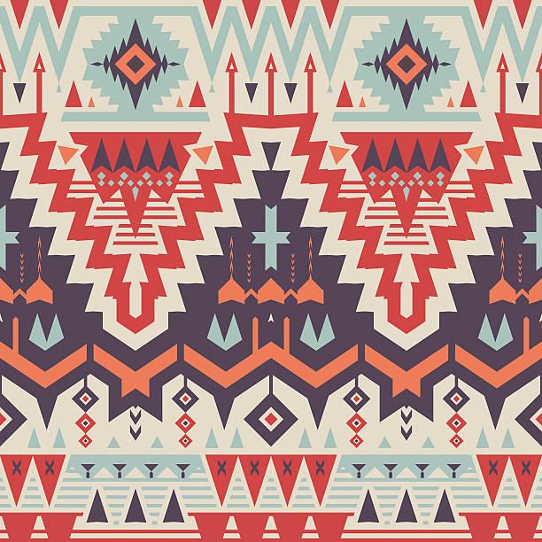 Vector Seamless Tribal Pattern vector art illustration