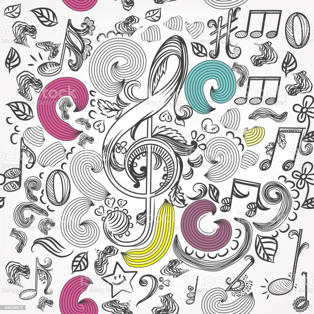 Cool Wallpaper Music Pattern - vector-seamless-wallpaper-pattern-with-doodle-music-elements-vector-id696258878  Collection_244178.com/vectors/vector-seamless-wallpaper-pattern-with-doodle-music-elements-vector-id696258878
