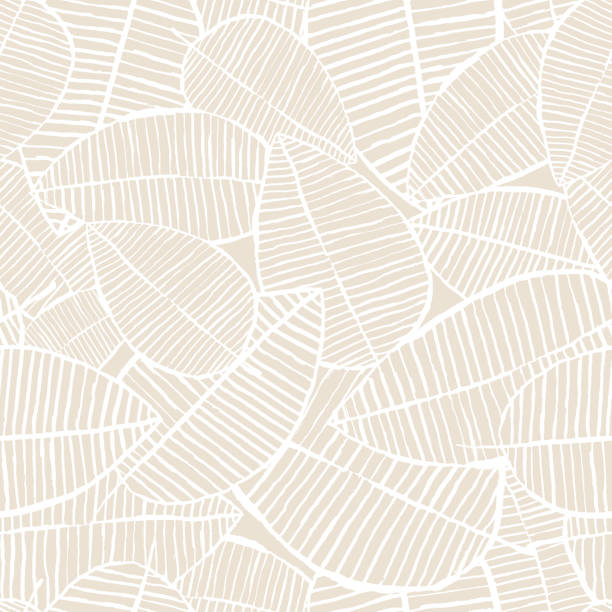 Vector seamless watercolor leaves pattern. Beige and white spring background. Floral design for fashion textile print. Vector seamless watercolor leaves pattern. Pastel beige and white spring background. Trendy floral design for fashion textile print. Nature organic illustration. fall background stock illustrations