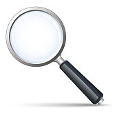 Vector search icon on white background