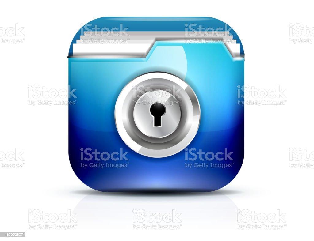 Vector secure folder icon royalty-free stock vector art