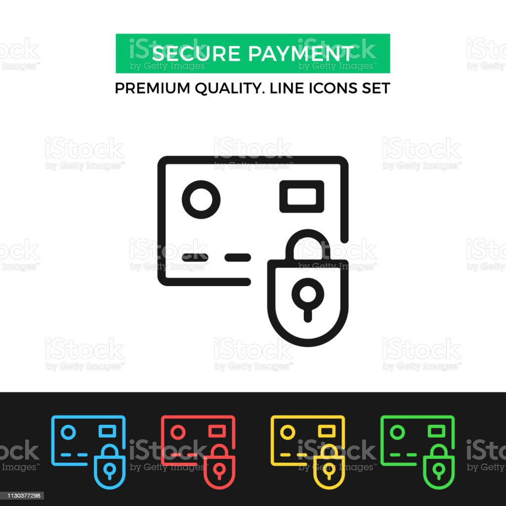 graphic relating to Free Printable Credit Card Signs known as Vector Harmless Fee Icon Credit rating Card And Lock High quality