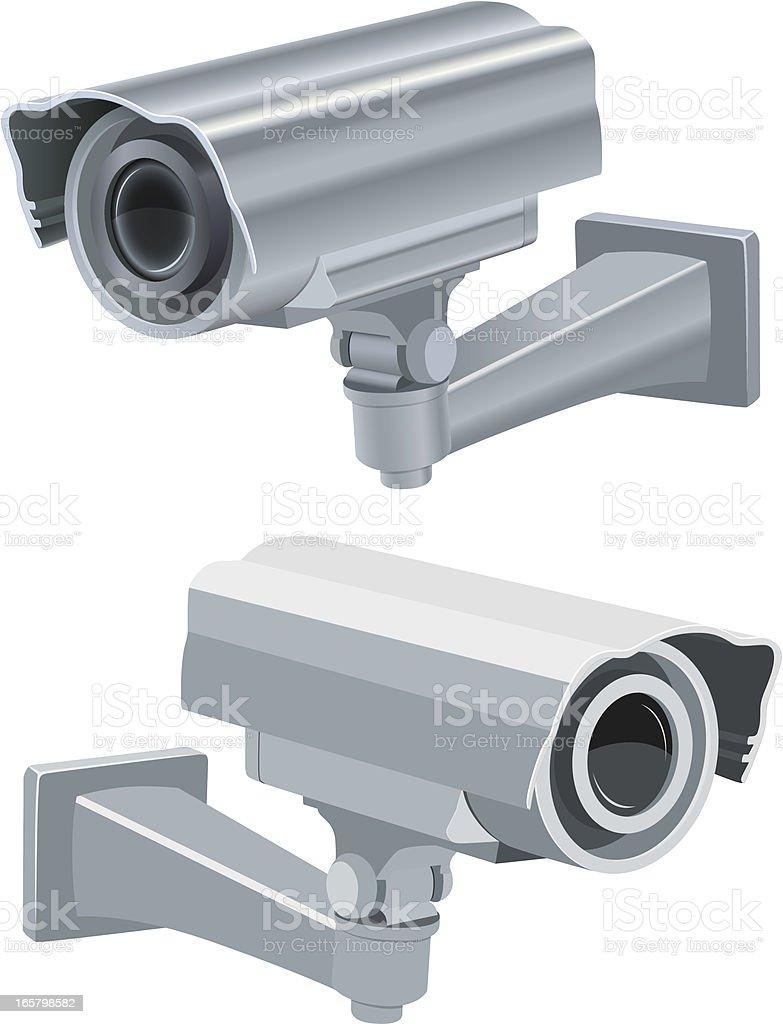 Vector security camera vector art illustration