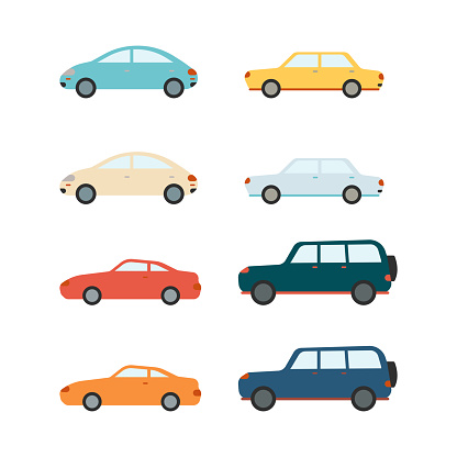 Vector Sedans And Suv Vehicles And Cars Set Stock Illustration - Download Image Now