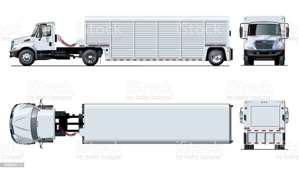 vector semi truck template isolated on white stock vector art more
