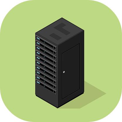 Vector Server Flat Icon.