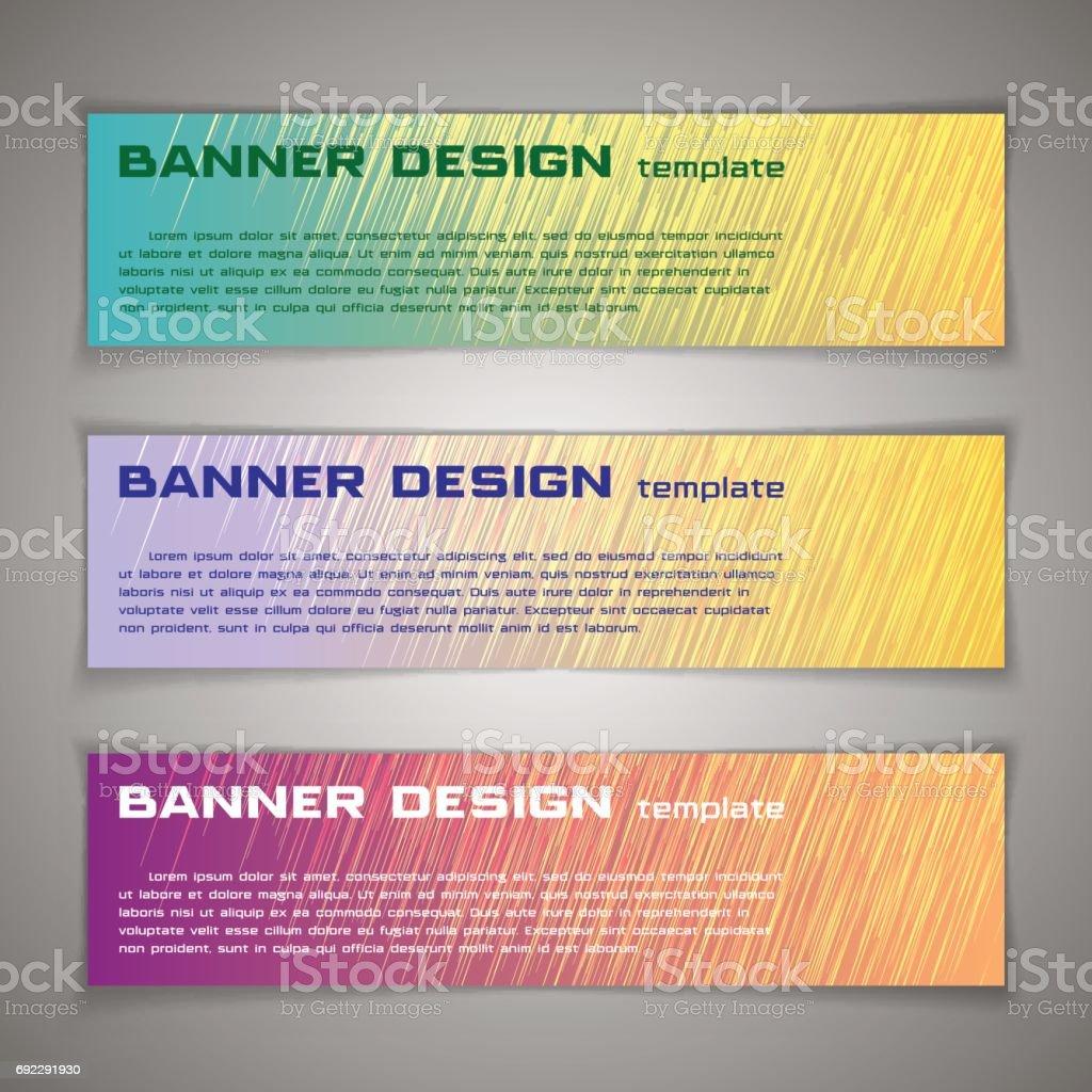 Vector Conjunto De Banners Plantillas O Encabezados De La Página Web ...
