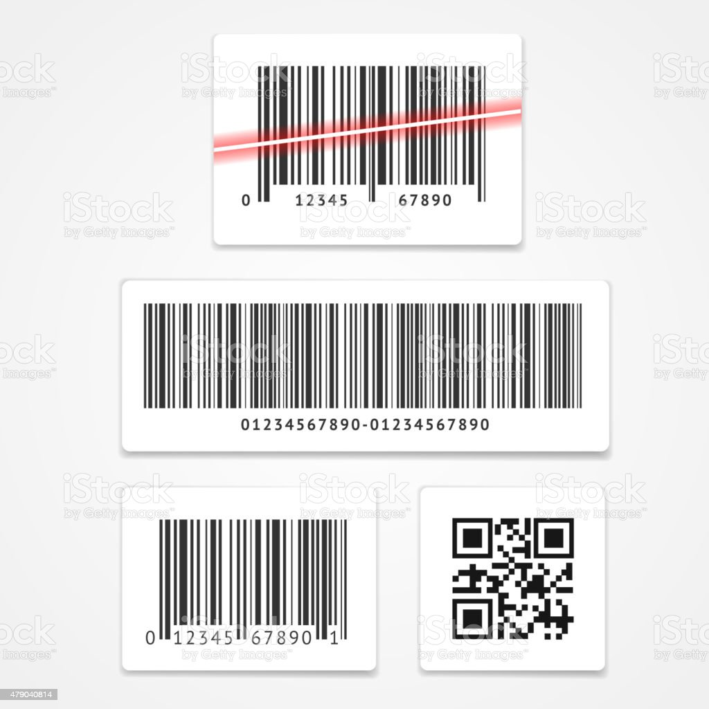 Vector set barcode vector art illustration
