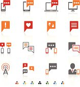 Vector set communication icons