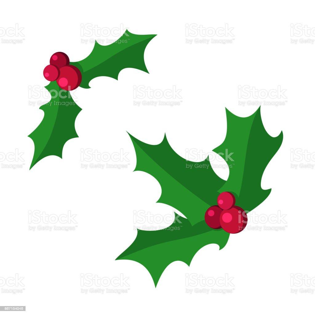 Vektor Setzen Dekorative Holly Berry Weihnachten Blatt ...