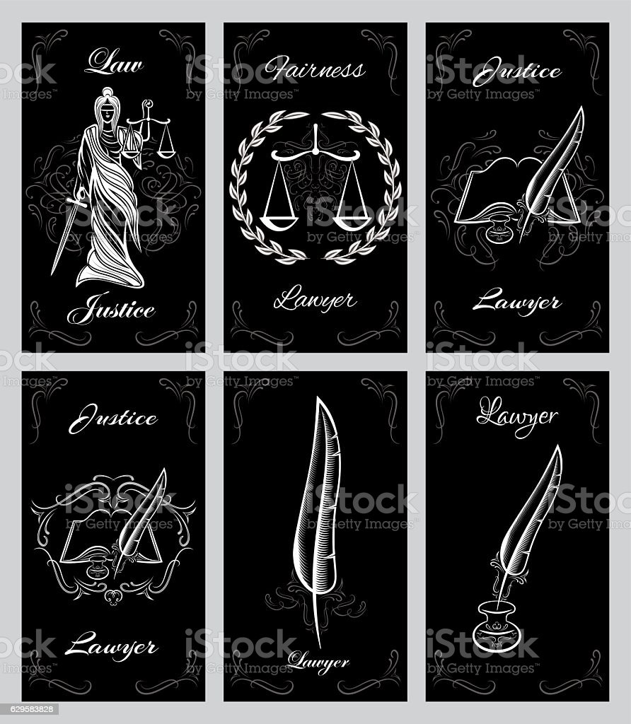 Vector set design elements for lawyers business cards stock vector vector set design elements for lawyers business cards royalty free vector set design elements for reheart Images