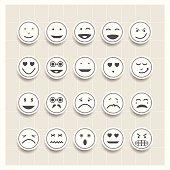 Vector set face emotion