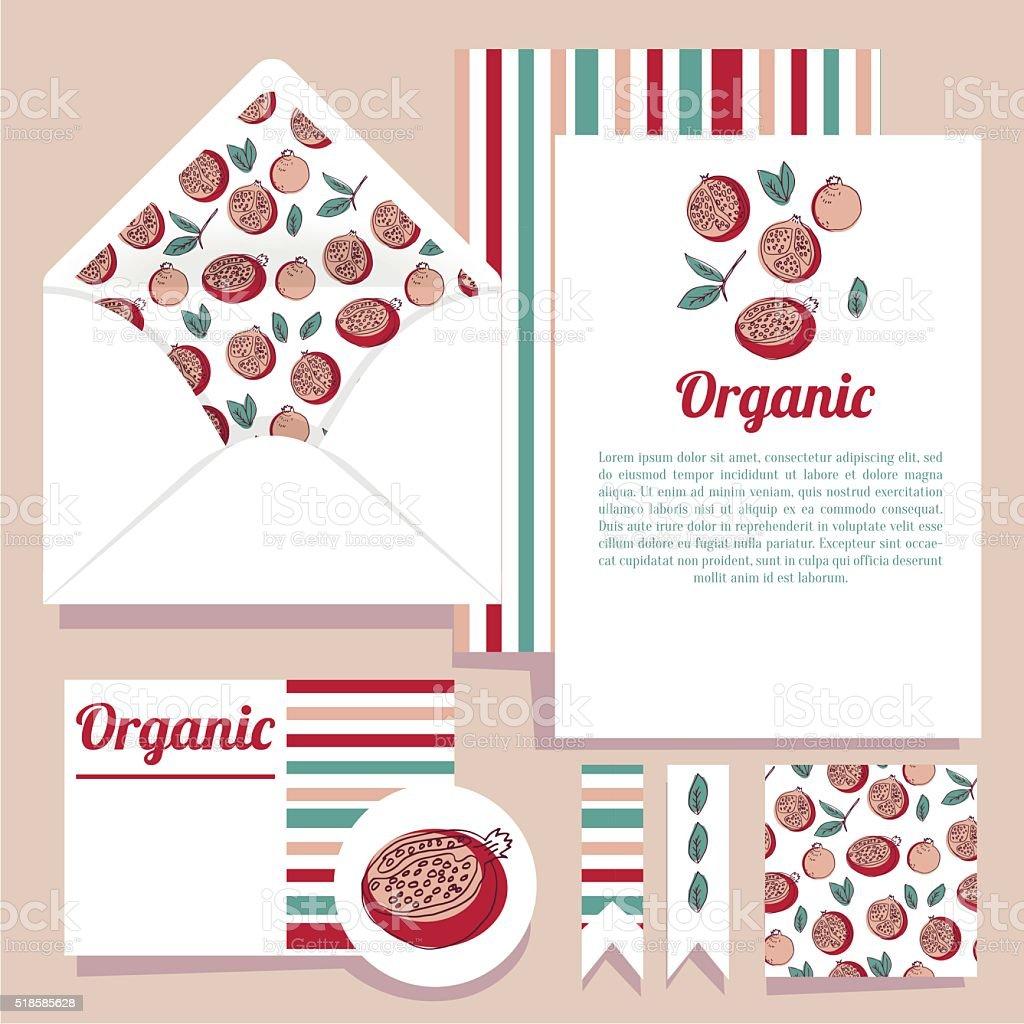 Vektorset Für Gestaltung Offene Umschlag Und Verschiedenen