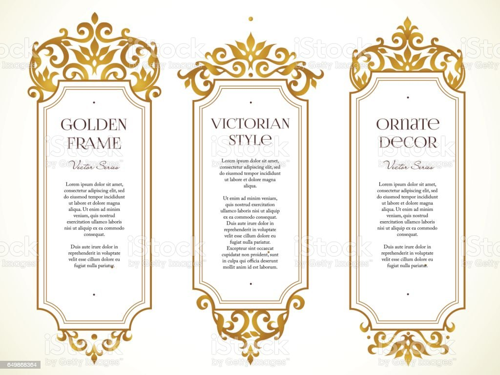 Vector images ensemble, vignette dans un style victorien. - Illustration vectorielle
