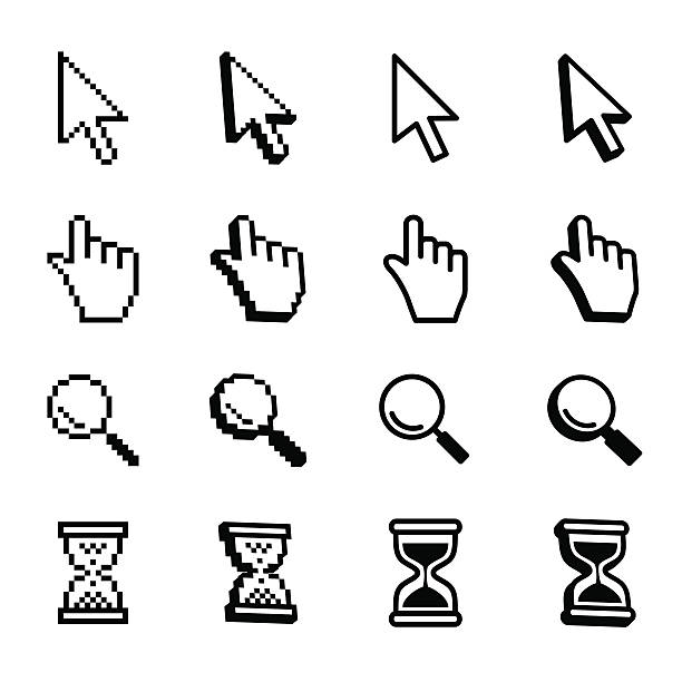 Vector set mouse cursors. Vector cursors, hourglass,  pointer icon. setter athlete stock illustrations