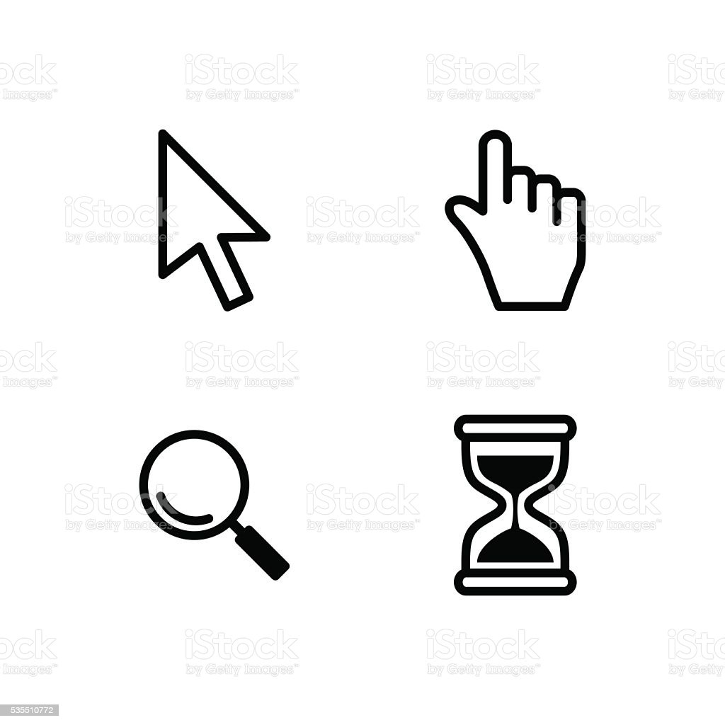 Vector set mouse cursors. vector art illustration