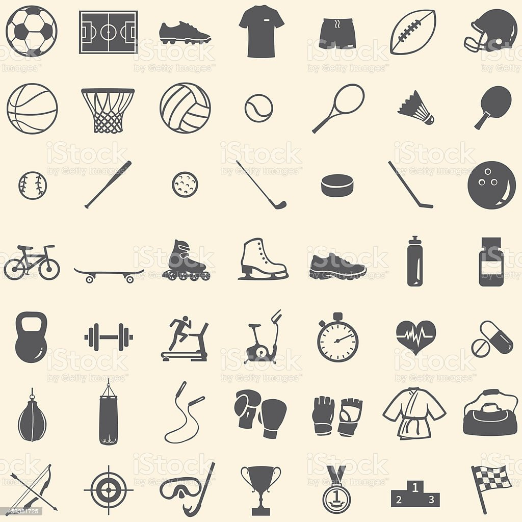 vector set of 49 icons for sports store royalty-free vector set of 49 icons for sports store stock vector art & more images of archery