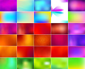 Set of abstract colorful blurred vector backgrounds.