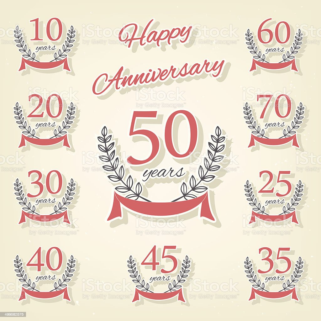 Vector set of anniversary symbols royalty-free vector set of anniversary symbols stock vector art & more images of 10th anniversary