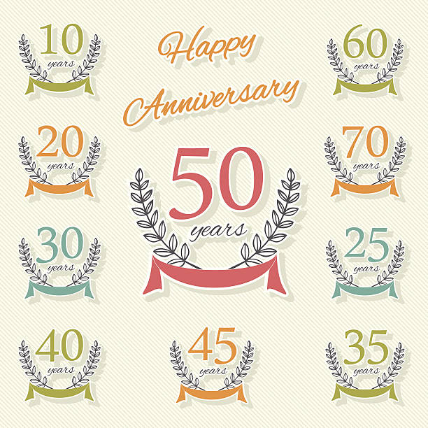 Royalty Free 25th Wedding Anniversary Clip Art Vector Images