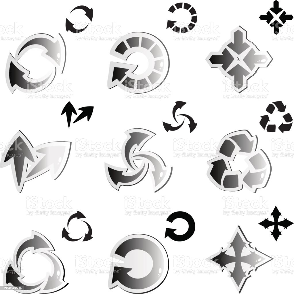 Vector set of arrows royalty-free vector set of arrows stock vector art & more images of arrow - bow and arrow