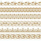 vector set of art dividers