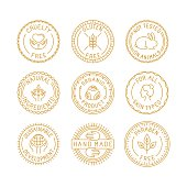 Vector set of badges and labels
