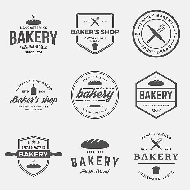 stockillustraties, clipart, cartoons en iconen met vector set of bakery labels, badges and design elements - bakery