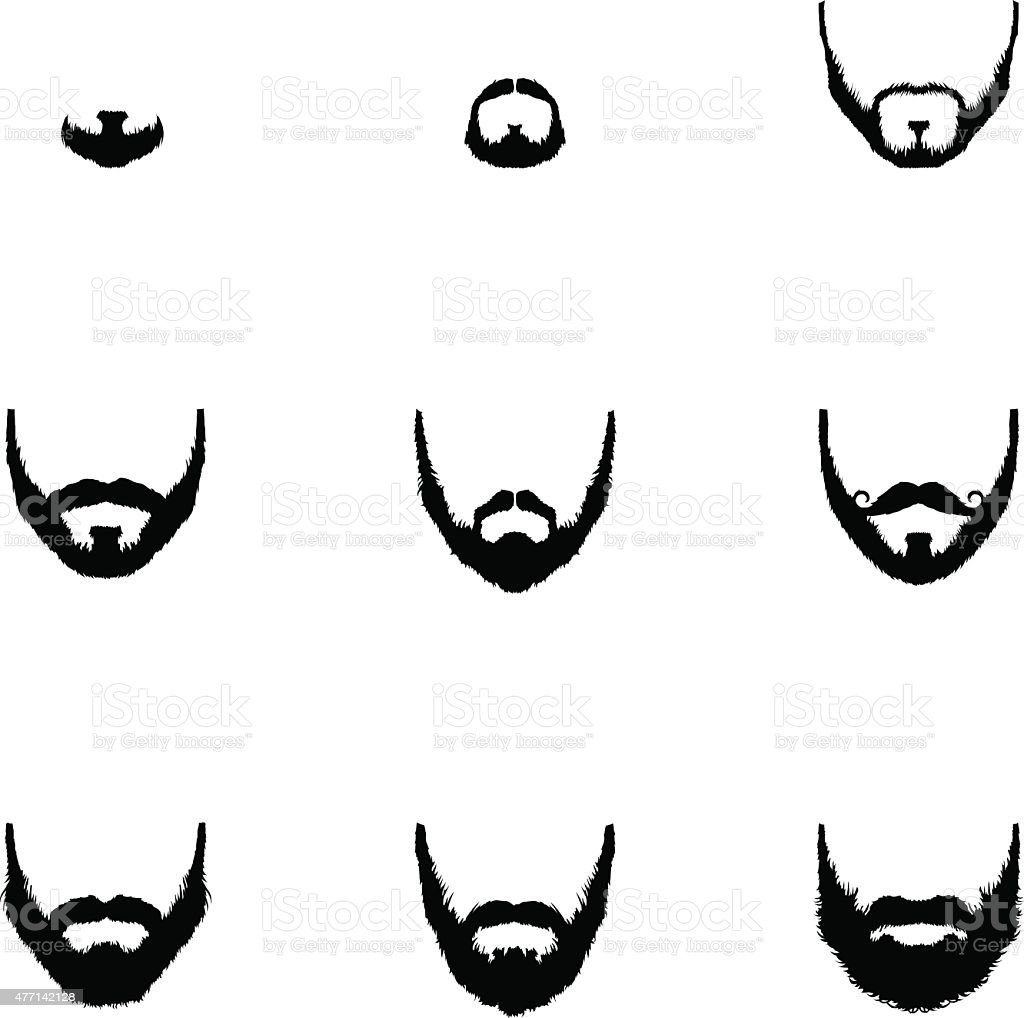 royalty free goatee clip art clip art, vector images & illustrations