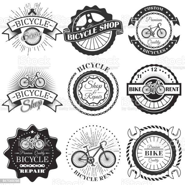Vector set of bicycle repair shop labels and design elements in and vector id847069266?b=1&k=6&m=847069266&s=612x612&h=nrjvqr1uf4hlbfhlhebfdqteutfmf5s0vzumd8lruzc=
