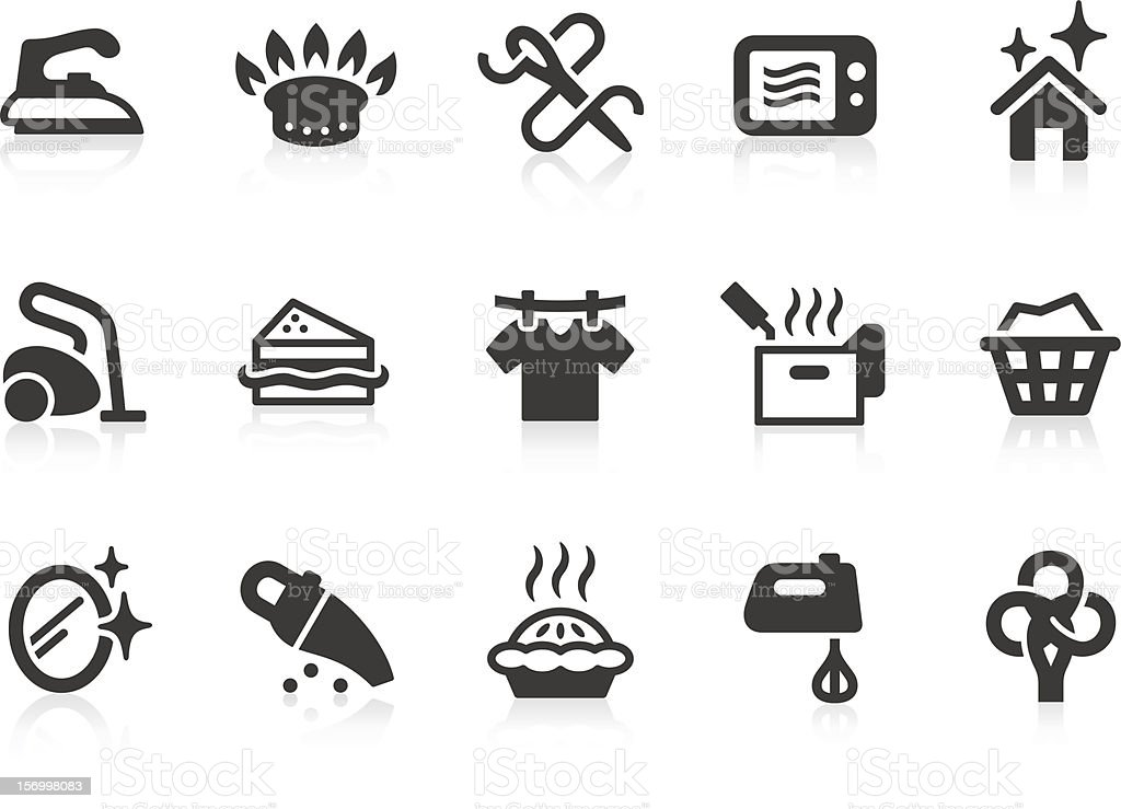 Vector set of black housekeeping icons royalty-free stock vector art