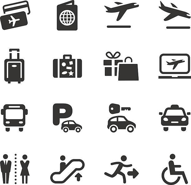 基本-空港、旅行のアイコン - 出張点のイラスト素材/クリップアート素材/マンガ素材/アイコン素材