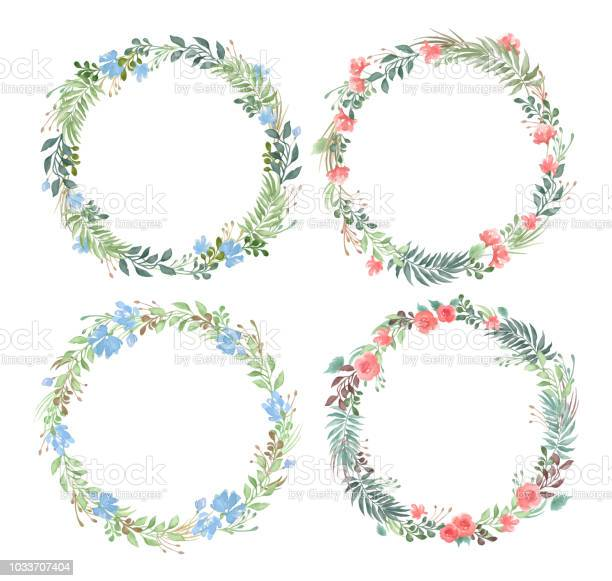 Vector set of blank round floral frames in watercolor style isolated vector id1033707404?b=1&k=6&m=1033707404&s=612x612&h=bmxmke6osbwl3nbpi5c8ctycw0cej4jwaqjh1pzmehm=