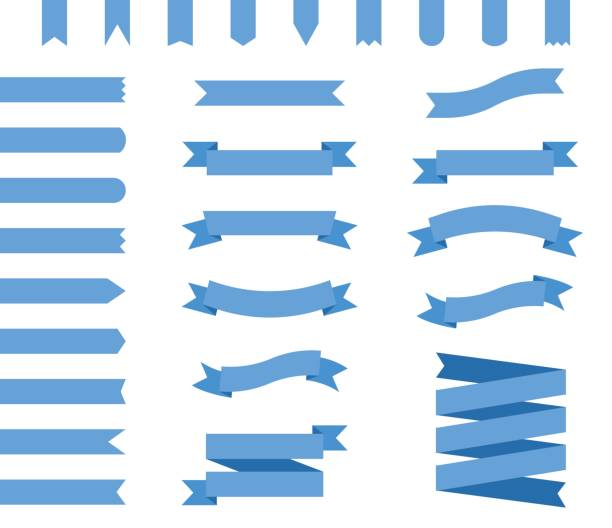 Vektor-Set blaue Bänder – Vektorgrafik