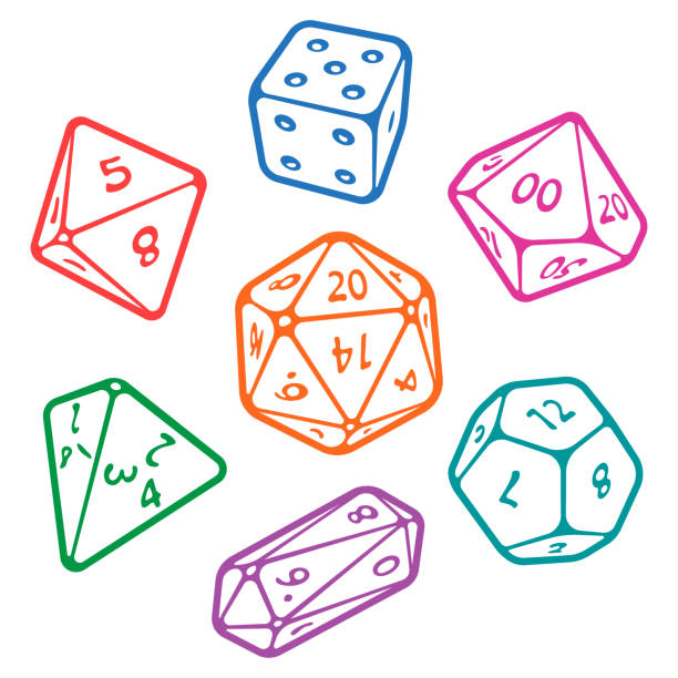 vector set of board game dices - dice stock illustrations, clip art, cartoons, & icons