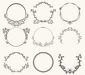 枠円 - ビンテージ スタイルのベクトルを設定