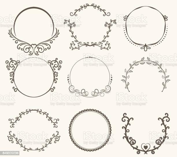 Vector set of border circle frame vintage style vector id849320236?b=1&k=6&m=849320236&s=612x612&h=rz8zp1ug0ymbkbag19paxpwxsur0naud6marmhk8ydg=