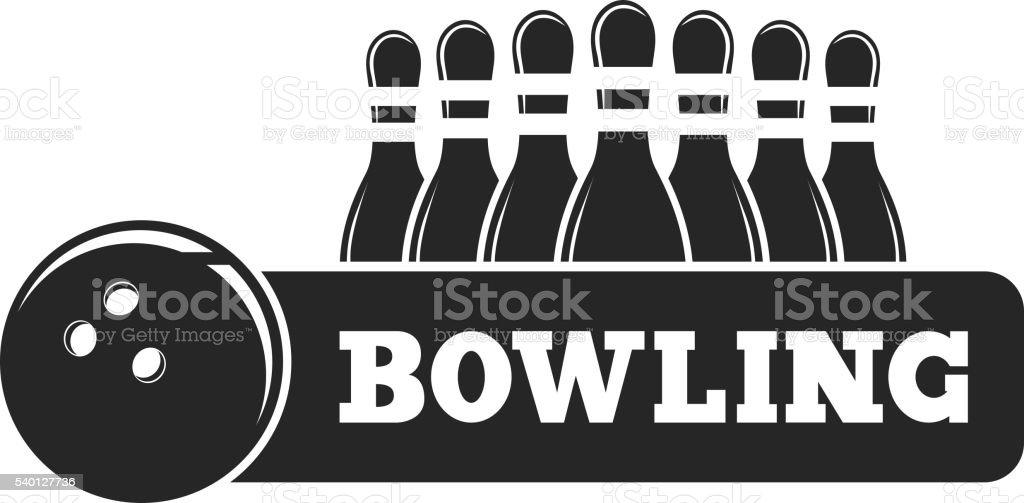 Vektor ein satz von bowling-Embleme in verschiedenen Farben. – Vektorgrafik