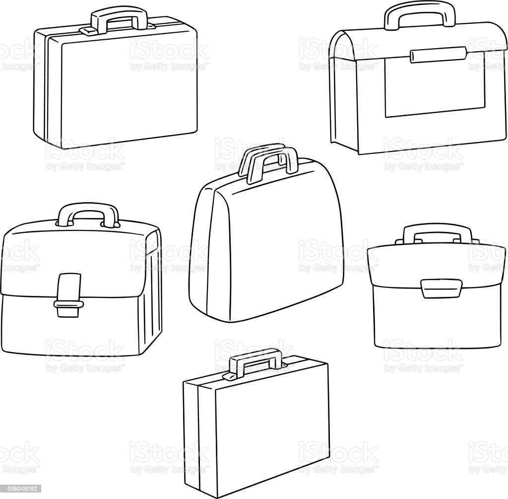 Groupe de vecteur de porte-documents - Illustration vectorielle