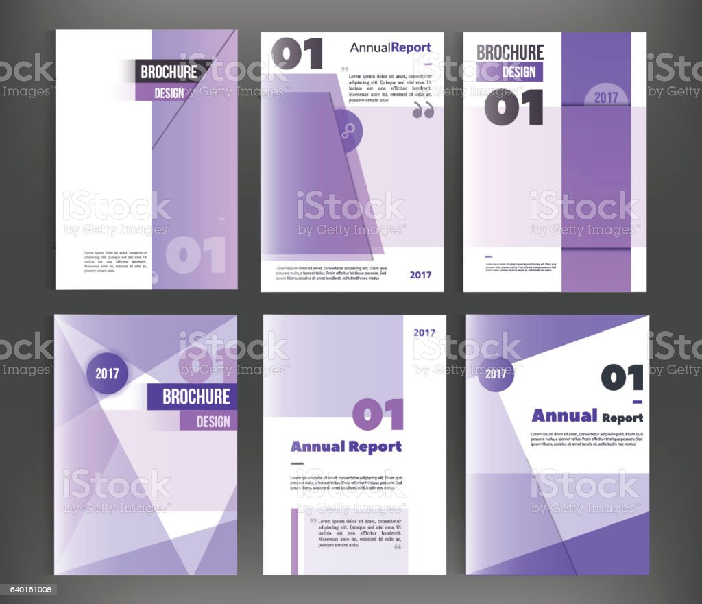 vector set of brochure cover templates business book flyer
