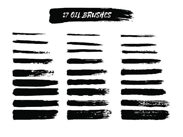 Vector set of  brush strokes. vector art illustration